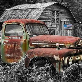 American Ford Pickup Truck by Debra and Dave Vanderlaan