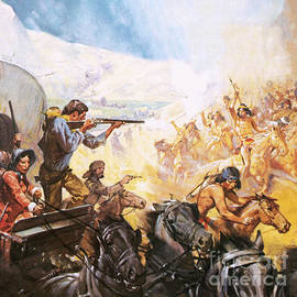 American pioneers shooting red indians - James Edwin McConnell