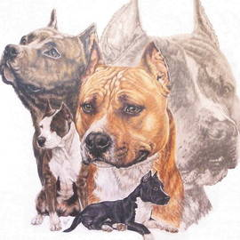 Barbara Keith - American Pit Bull Terrier and Ghost