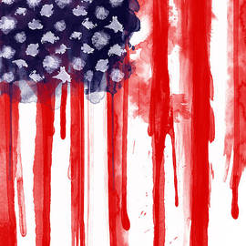 American Spatter Flag by Nicklas Gustafsson
