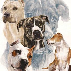 Barbara Keith - American Staffordshire Terrier w/ghost