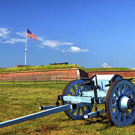 Ammunition Caisson at Fort Mchenry National Monument and Historic Shrine by Bill Swartwout Photography
