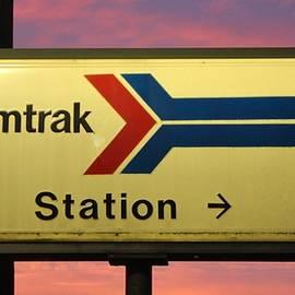 Cynthia Guinn - Amtrak Station Sign
