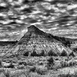 Jeff Swan -  an expanse of desolation in the Badlands black and