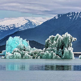 An Iceberg In The Inside Passage Of Alaska by Kay Brewer
