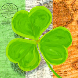 An Irish Shamrock Collage by Mark Tisdale