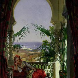David Emil Joseph de Noter - An Odalisque on a Terrace