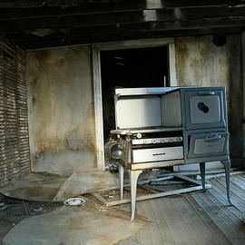 An old stove left behind
