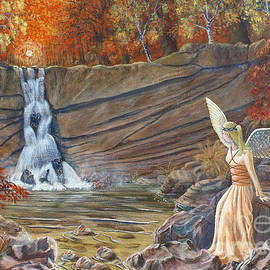Anthony Lyon - Angel At The Waterfall