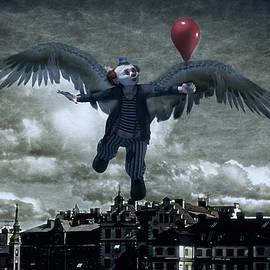 Angel Clown with Balloon by Ramon Martinez