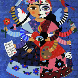 Angel Devil 10-arm Frida Kahlo by LuLu Mypinkturtle