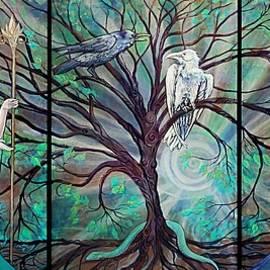 Angel Faery Triptech by Katherine Nutt