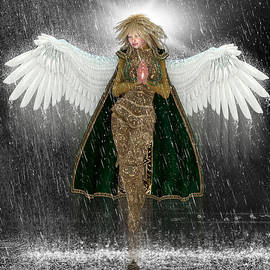 Charm Angels - Golden Angel in the Storm.