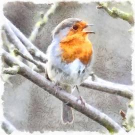 Tracey Harrington-Simpson - Angelic Robin Watercolor