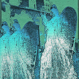 Angels Marching To The Heartbeat Of The City Streets Wall Art by Carol F Austin