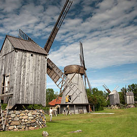 Angla Windmills Of Saaremaa by Aivar Mikko