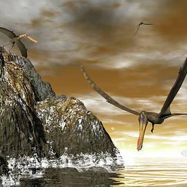 Elenarts - Elena Duvernay Digital Art - Anhanguera prehistoric birds - 3D render