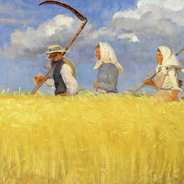 Anna Ancher Harvesters 1905 by Movie Poster Prints