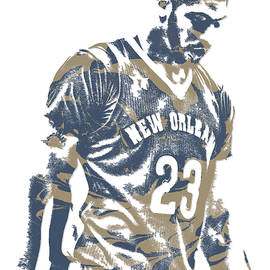 ANTHONY DAVIS NEW ORLEANS PELICANS PIXEL ART 11 - Joe Hamilton