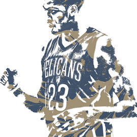 ANTHONY DAVIS NEW ORLEANS PELICANS PIXEL ART 12 - Joe Hamilton