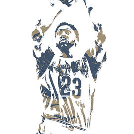 ANTHONY DAVIS NEW ORLEANS PELICANS PIXEL ART 13 - Joe Hamilton
