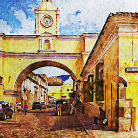 Antigua, Guatemala - Digital Paint by Tatiana Travelways