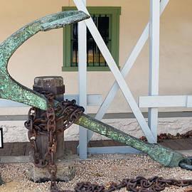 Barbara Snyder - Antique Boat Anchor Custom House Plaza Monterey California