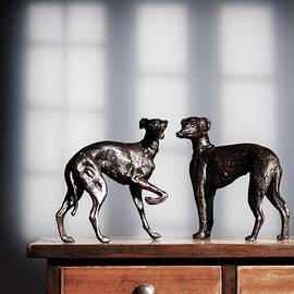 Antique Bronze Greyhound Dogs - Amanda Elwell