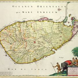 Nicolas Visscher - Antique Map of Ceylon