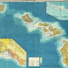 Studio Grafiikka - Antique Maps - Old Cartographic maps - Antique Japanese Aeronautical Map of Hawaii, 1943