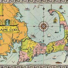 Studio Grafiikka - Antique Maps - Old Cartographic maps - Antique Map of Cape Cod, Massachusetts, 1932