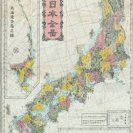 Studio Grafiikka - Antique Maps - Old Cartographic maps - Antique Map of Japan - Meiji Era, 1880