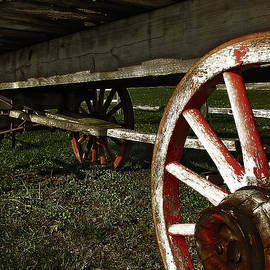 Antique Wagon Wheels by Scott Hovind