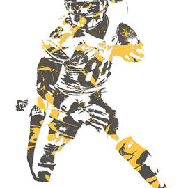 Antonio Brown PITTSBURGH STEELERS PIXEL ART 15 - Joe Hamilton