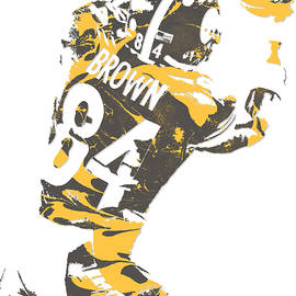 Antonio Brown PITTSBURGH STEELERS PIXEL ART 16 - Joe Hamilton