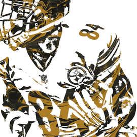 Joe Hamilton - ANTONIO BROWN PITTSBURGH STEELERS PIXEL ART 7