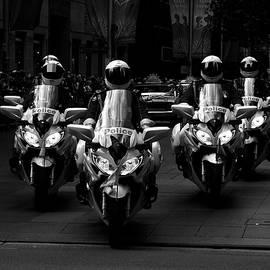 Miroslava Jurcik - Anzac Day March Police On Motorbikes
