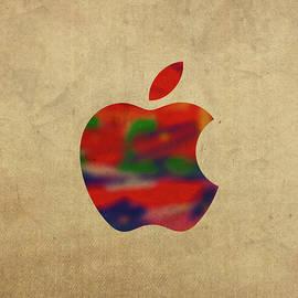 Apple Icon Symbol in Watercolor - Design Turnpike