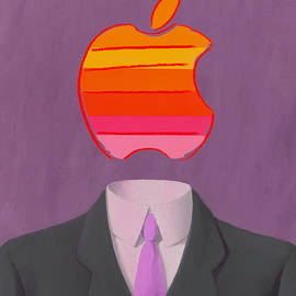Apple-Man-2 - Rene Magritte and Andy Warhol