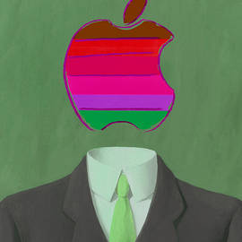 Apple-Man-3 - Rene Magritte and Andy Warhol