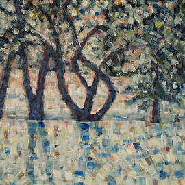 Jim Rehlin - Apple Orchard / Winter Sunset