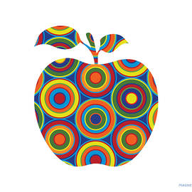Apple with Circles on White - Ron Magnes
