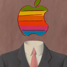 Apple-Man-1 - Rene Magritte and Andy Warhol