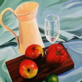 Anne Gardner - Apples, lime and capsicum