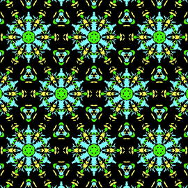 Dana Roper - Aqua Lime and Yellow Pattern