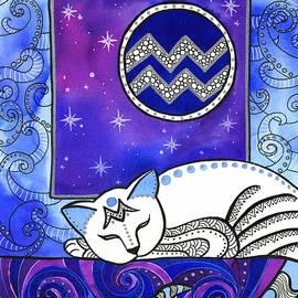 Aquarius Cat Zodiac by Dora Hathazi Mendes
