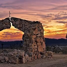 Arc In Stones - Mojave Desert by Chrystyne Novack