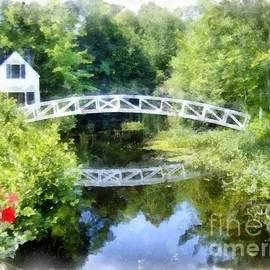 Arched Wooden Foot Bridge Mount Desert Island Acadia Maine by Edward Fielding
