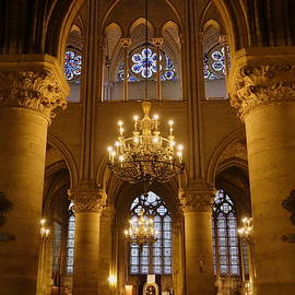 Architectural Artwork Within Notre Dame In Paris France by Rick Rosenshein