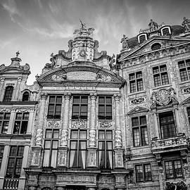 Carol Japp - Architecture of The Grand Place Brussels in Black and White